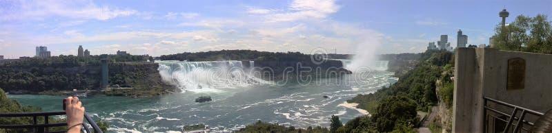 Niagara- Fallspanorama stockfotos