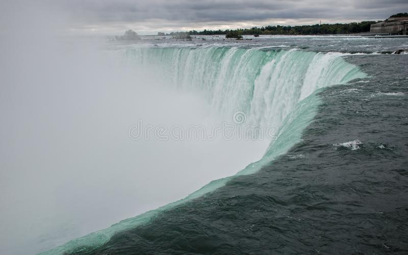 Niagara- Fallspanoramische Ansicht lizenzfreies stockfoto