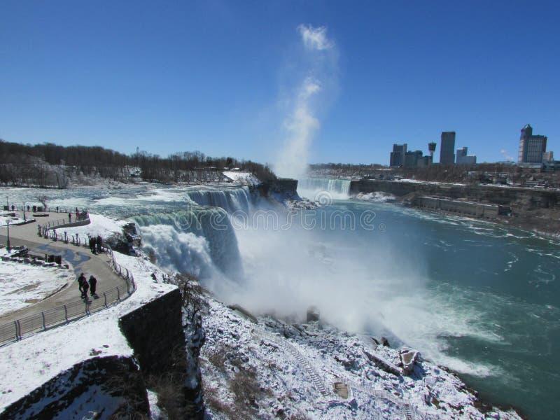 Niagara invernal imagem de stock royalty free