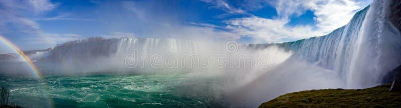 Niagara-Panorama stockbilder
