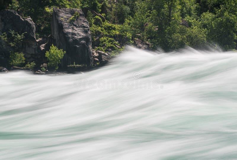 Niagara River at White Water Walk in Canada stock photos