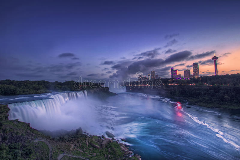 Niagara Spada I Amerykańscy spadki, stan nowy jork, usa obraz stock