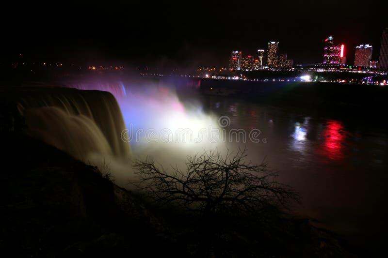 Niagara spada Kanada, widok od usa wybrzeża, usa fotografia stock