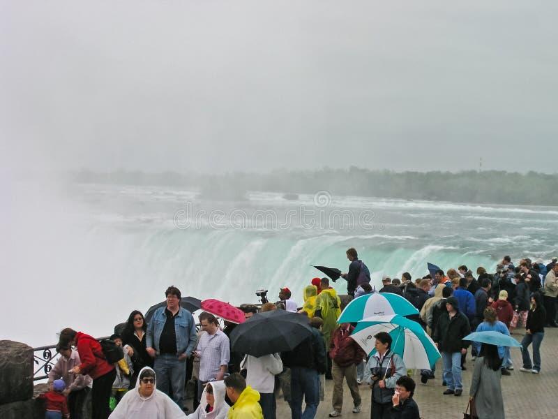 Niagara Spada, kompleks siklawy na Niagara rzece zdjęcia royalty free