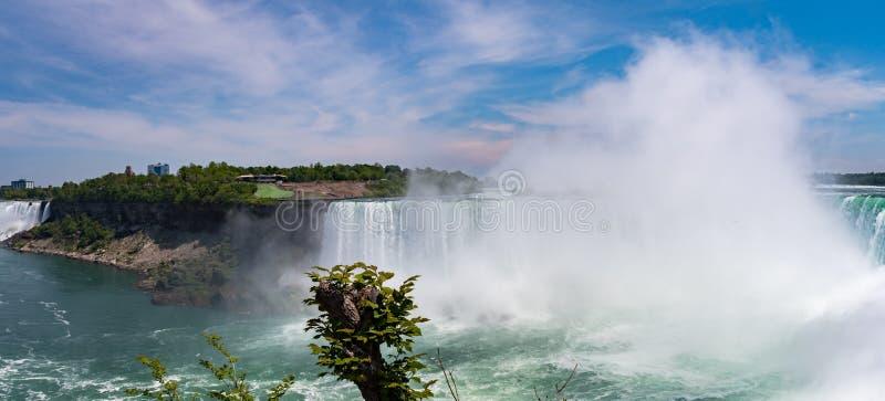 Niagara spada podkowa spadki i Bridal przesłona Spada obraz royalty free