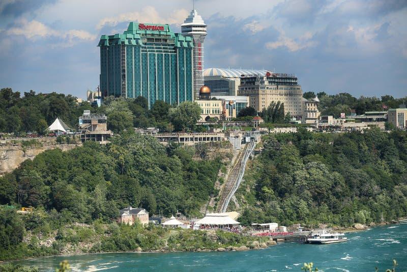 Niagara Spada, usa †'Sierpień 29, 2018: Bautiful widok Niagara zdjęcie royalty free