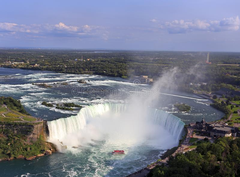 Niagara Spada, widok z lotu ptaka, Kanada, Ontario fotografia stock