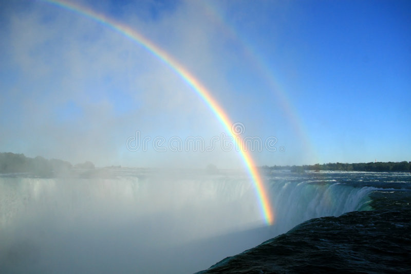 Niagara spadają tęcze obraz royalty free