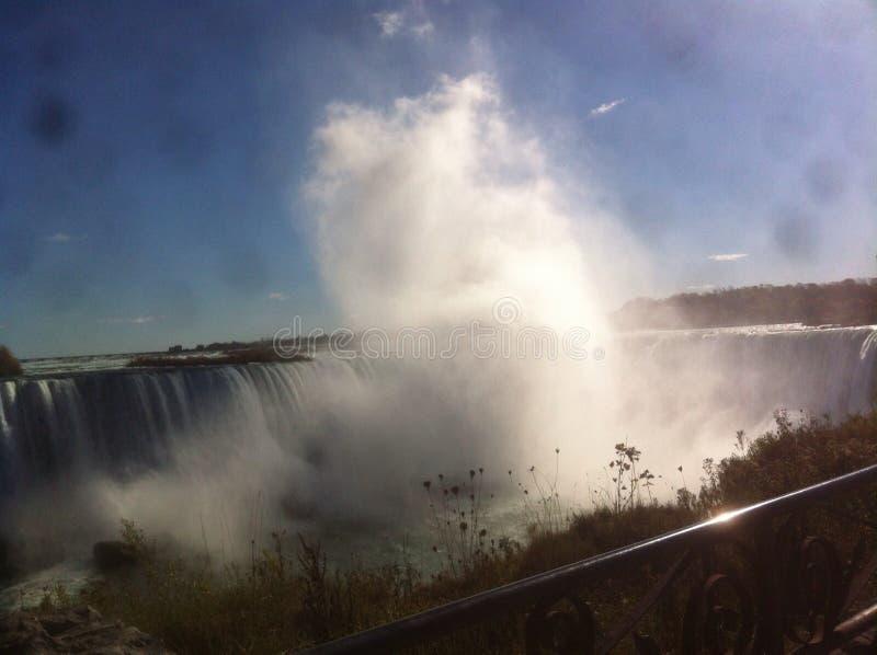 Niagara spadków kontrpary prysznic obraz royalty free