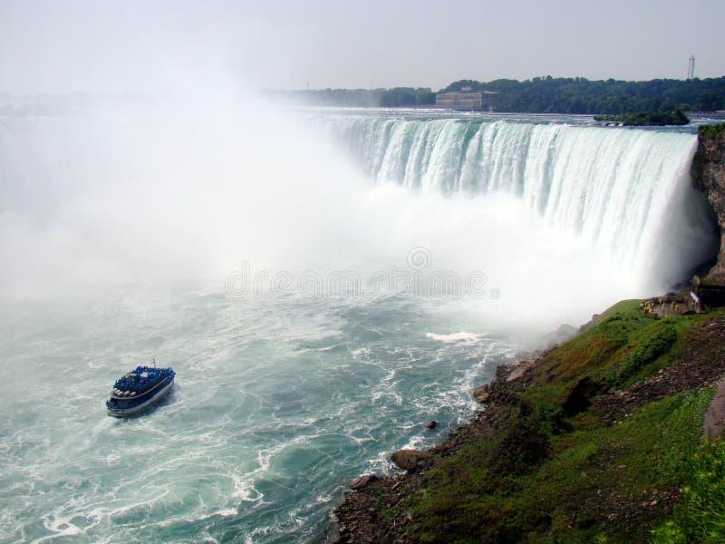 Niagara spadków wycieczki turysycznej Łódkowata gosposia mgła zdjęcia stock