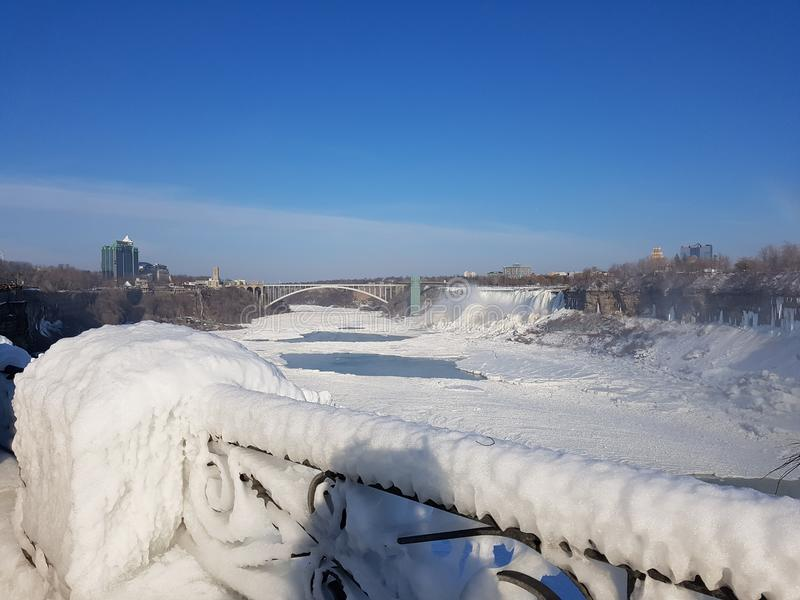 Niagara spadki Marznący zdjęcia stock