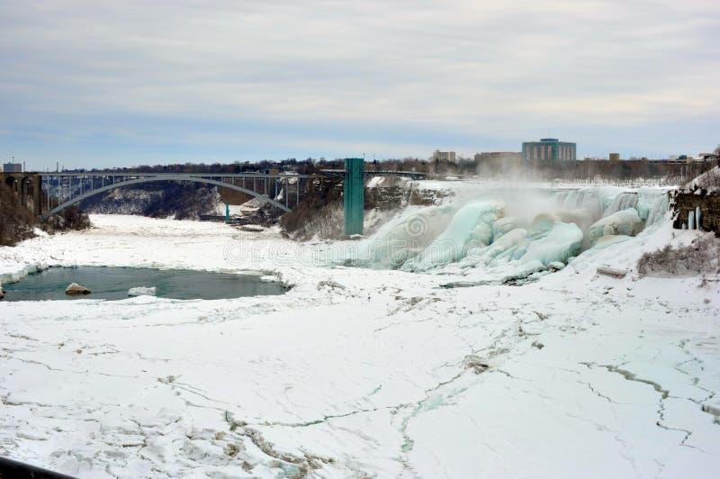 Niagara spadki, Ontario Kanada, Marzec, - 9, 2015 obrazy stock