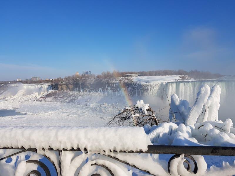 Niagara valt Bevroren stock foto's