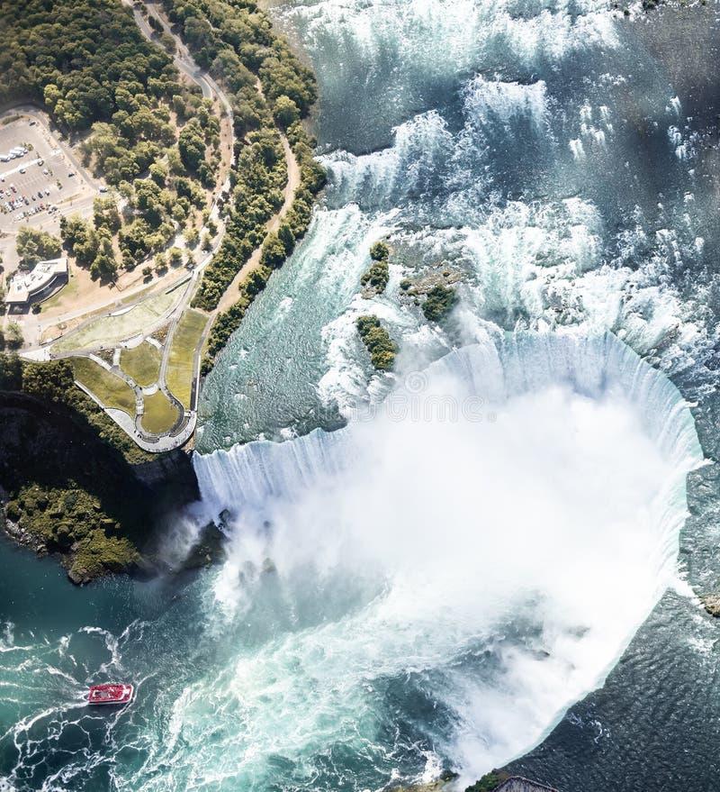 Niagara waterval van bovenaf, ÂÂ Aerial view of Niagara waterval royalty-vrije stock foto's