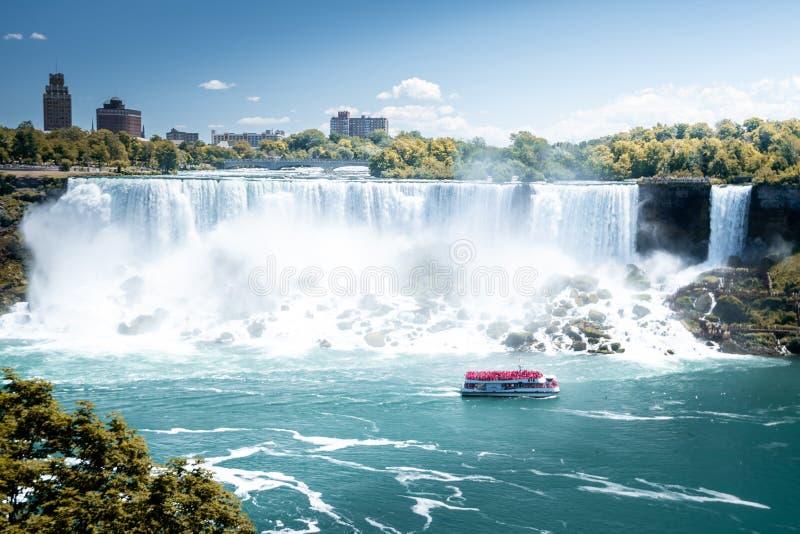 Niagara waterval van bovenaf, luchtaanzicht van Niagara waterval royalty-vrije stock afbeeldingen