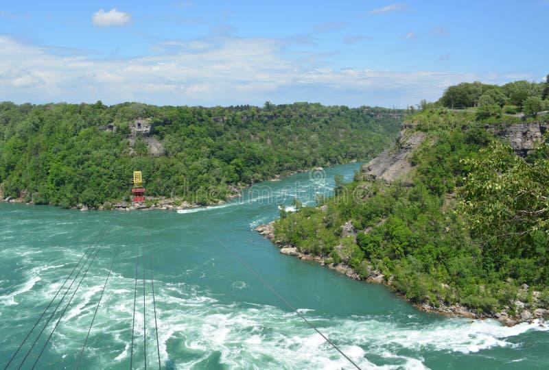 Niagara Whirlpool cable car stock photography