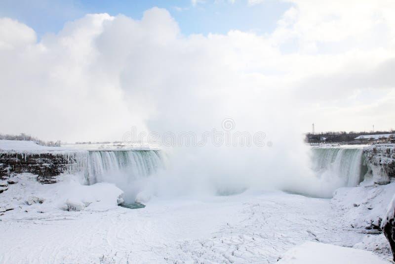 Niagara zima się zdjęcia royalty free