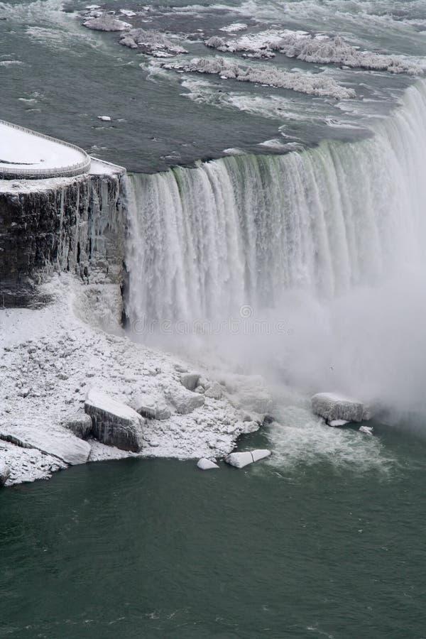Niagara zima się obraz stock