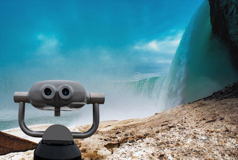 Niagaradalingen tussen de Verenigde Staten van Amerika en Canada royalty-vrije stock afbeeldingen
