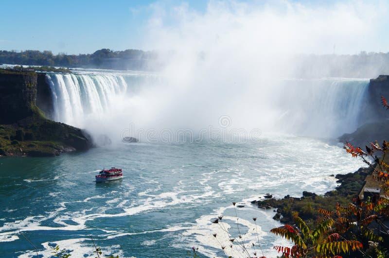 Niagaras nedgångar arkivbild
