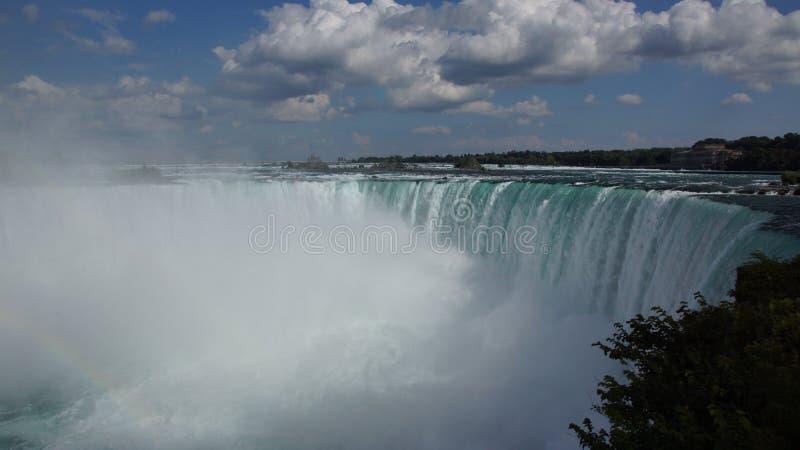 Niagra Falls Horseshoe Waterfall fotografering för bildbyråer
