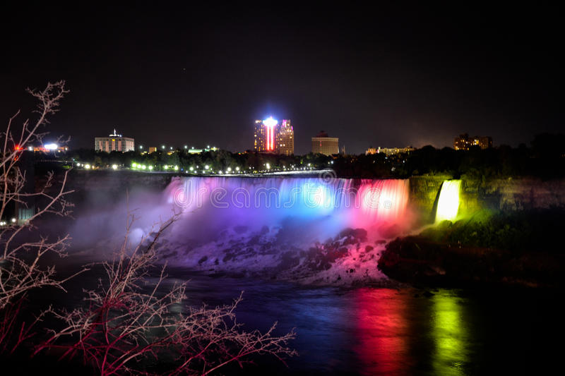 Niagra Falls Night stock photos