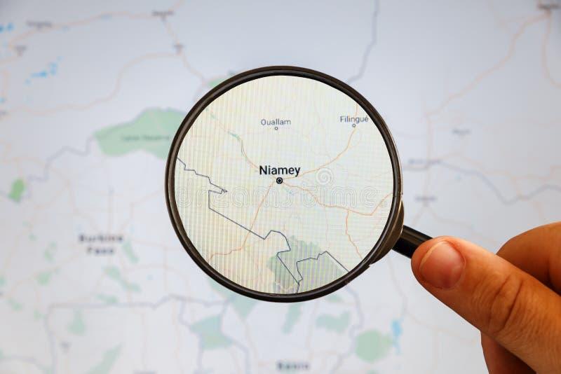 Niamey, Niger correspondencia pol?tica fotografía de archivo libre de regalías