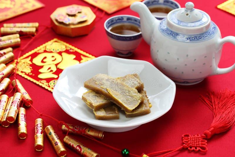 Nian gao, bolo de arroz chinês do ano novo fotos de stock