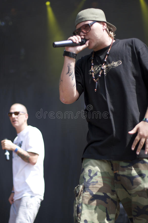 Niarn. Danish rapper Niarn, performing at Nibe Festival 2009 stock photo