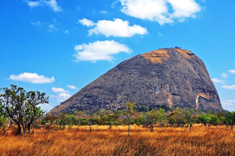 Niassa Gubernialny Landscape_Northern Mozambik obraz royalty free