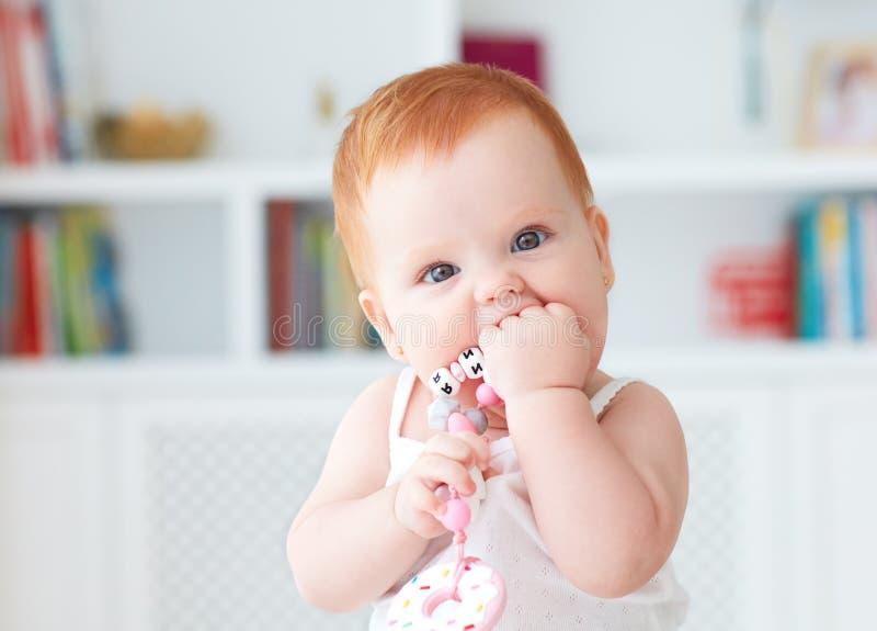 Nibblerspielzeug Silikon des Säuglingsbabys schneidendes stockbilder