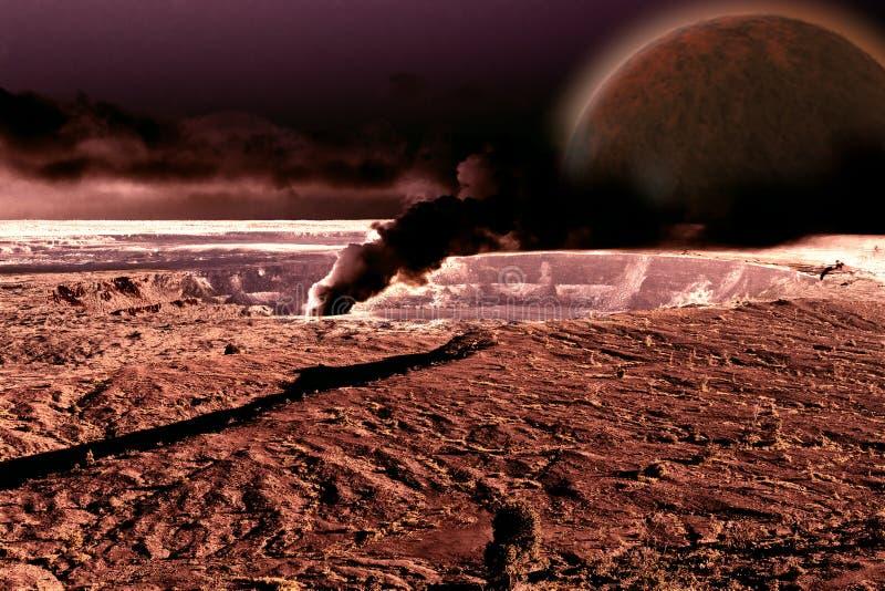 Nibiru - планета x причаливая земле стоковое фото rf