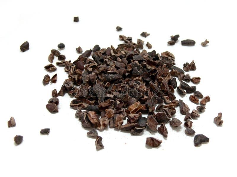 nibs какао стоковое изображение