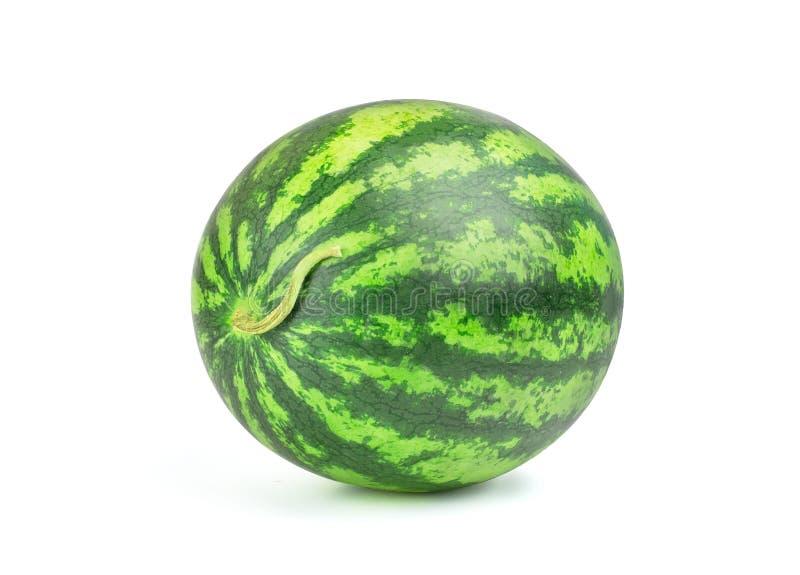 ?nica baga completa madura da melancia isolada no fundo branco fotografia de stock royalty free