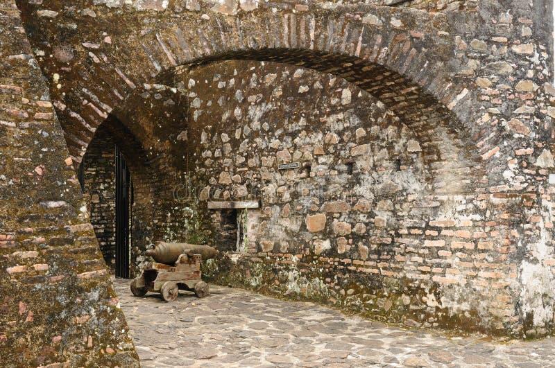 Nicarágua, castelo fortificado no EL Castillo foto de stock