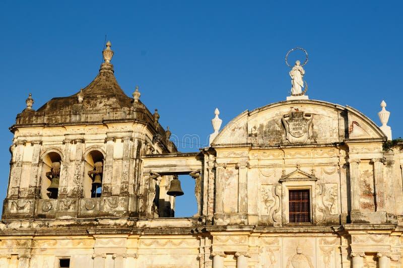 Nicarágua, vista na cidade velha de Leon imagem de stock