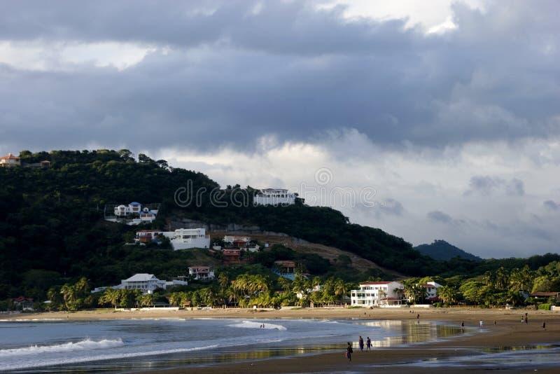 Nicaragua Beach Scene stock photography