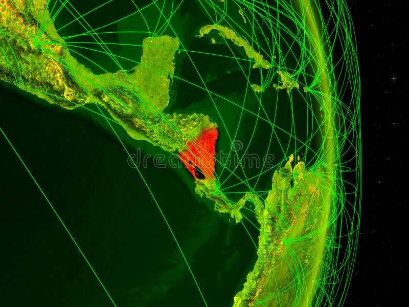 Nicaragua op digitale Aarde stock foto