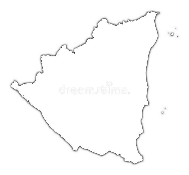 Nicaragua Outline Map Stock Illustration Image Of Diagram - Nicaragua map download
