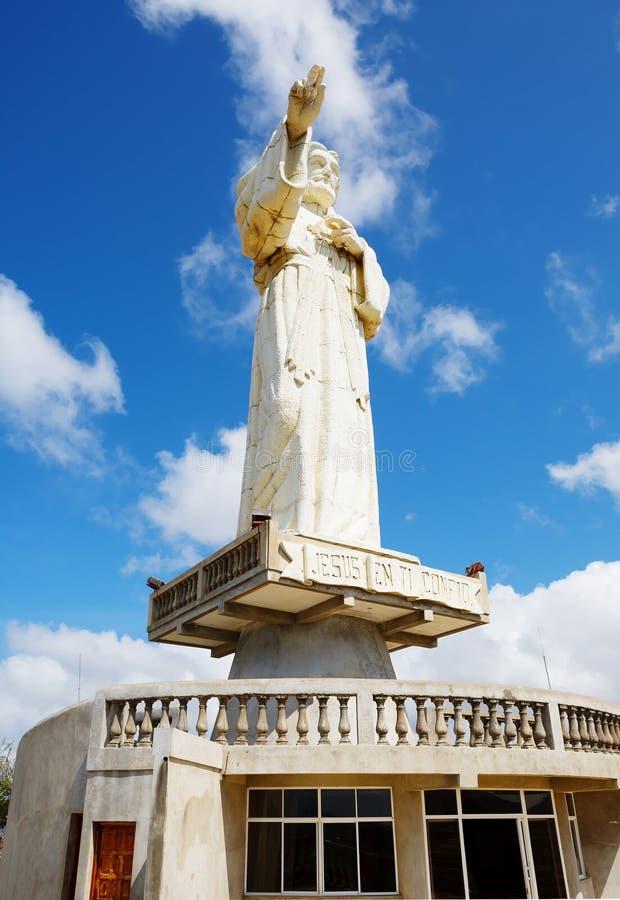 nicaragua San Juan del Sur Een groot standbeeld van Christus royalty-vrije stock foto's