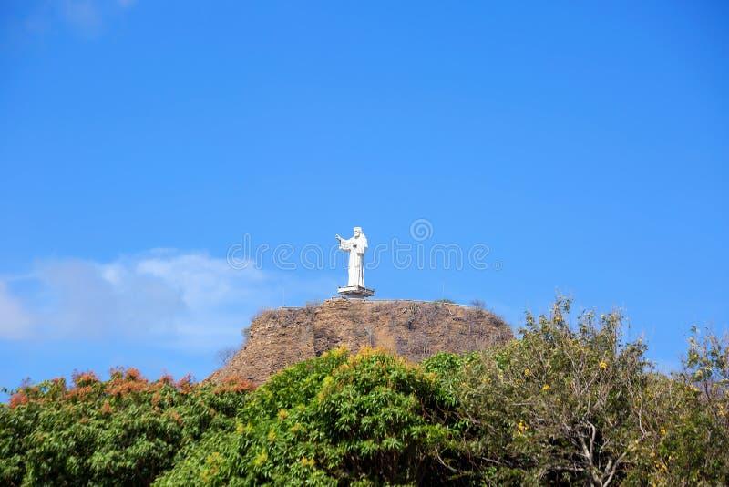 nicaragua San Juan del Sur Het standbeeld van Christus op de berg stock afbeeldingen
