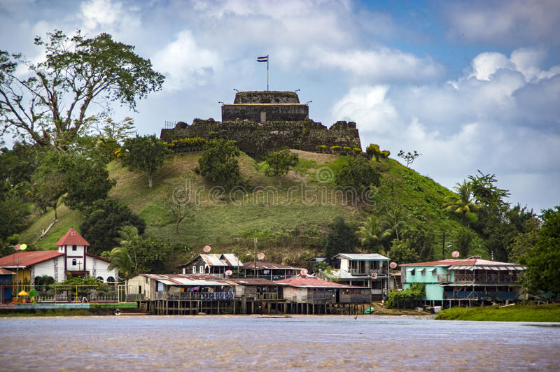 Nicaragua, Versterkt kasteel in Gr Castillo stock foto's