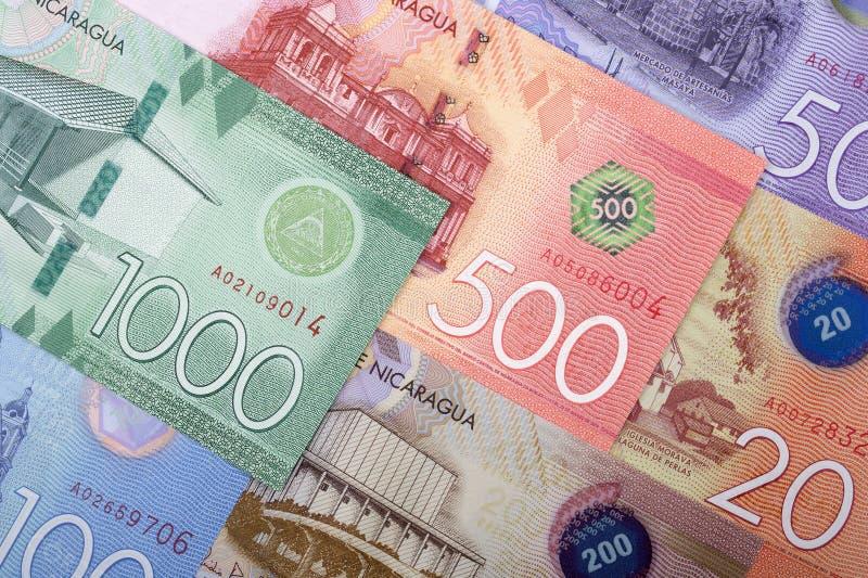 Nicaraguan Cordoba, een achtergrond royalty-vrije stock afbeelding