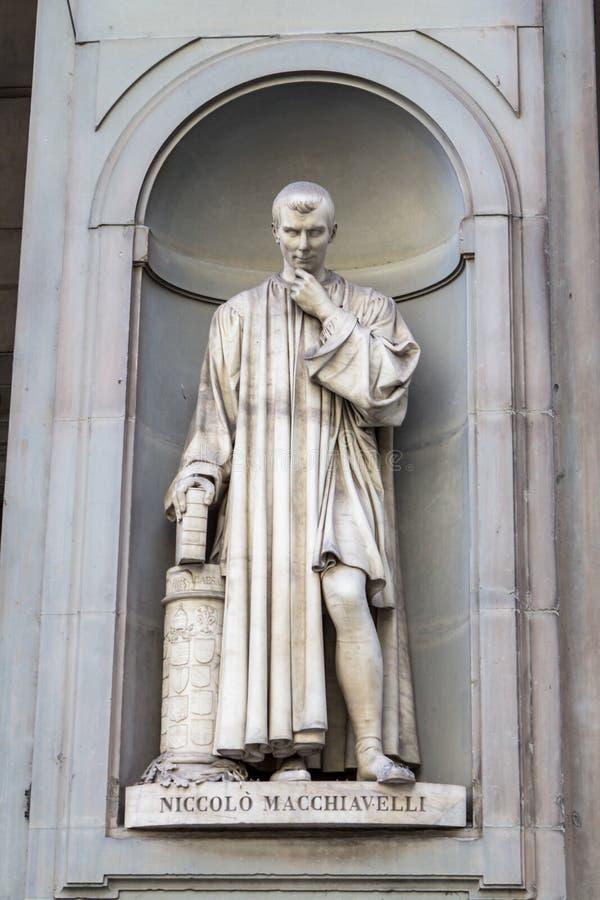 Niccolo马基雅弗利,佛罗伦萨,意大利雕象  免版税库存照片