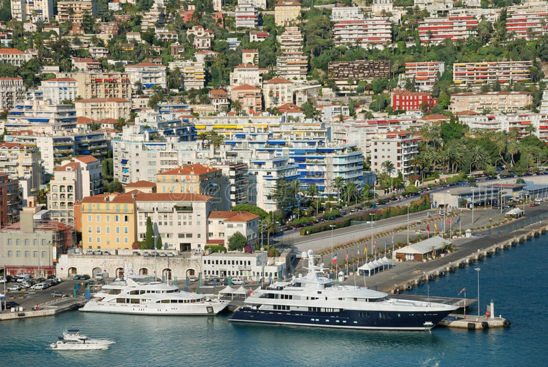 Download Nice. stock image. Image of port, building, azure, powerboat - 15714305