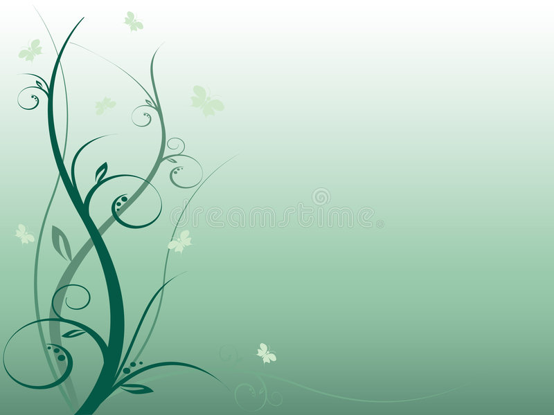 Nice abstract floral background with butterflies royalty free stock images