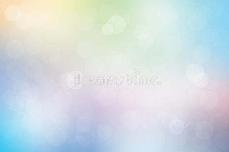 Nice abstract light pastel soft color style bokeh background. Sp vector illustration