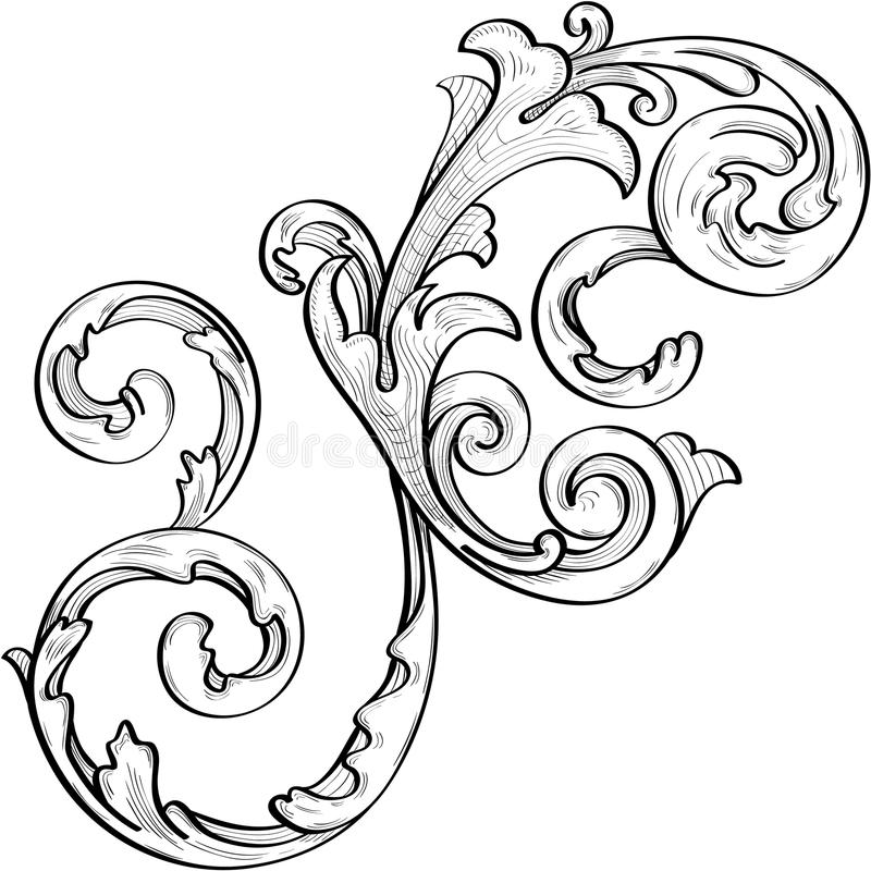 Download Nice Acanthus Swirl Royalty Free Stock Photography - Image: 20704167