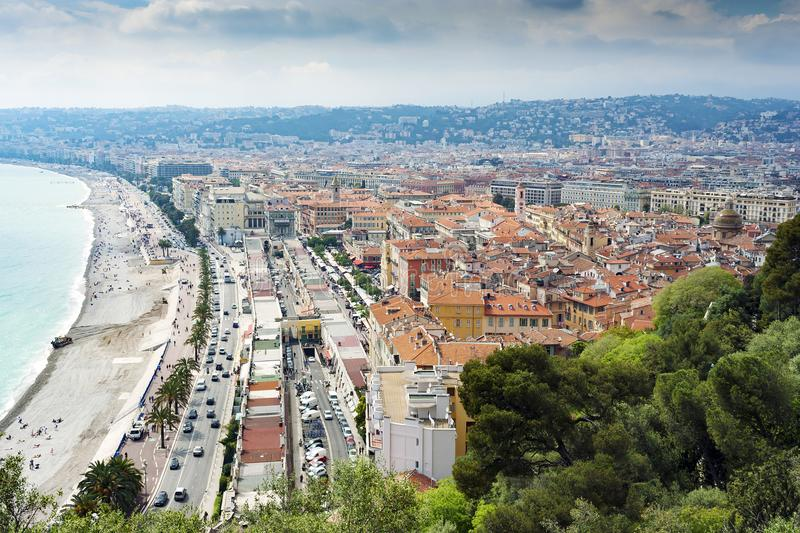 Nice Aerial View From Parc du Chateau royalty free stock photo