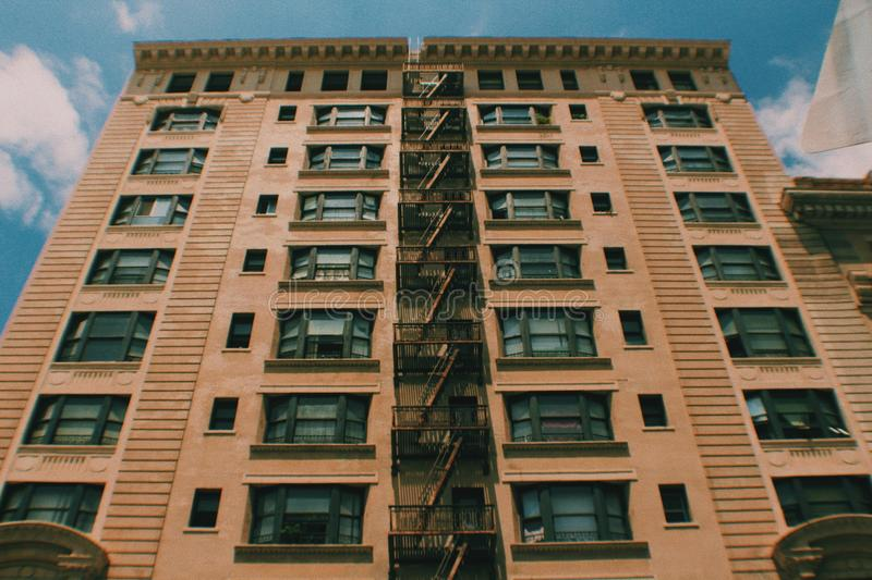 Nice apartment building in a city royalty free stock photography